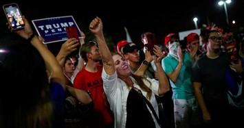 Cảnh biểu tình ở Mỹ sau ngày bầu cử tổng thống