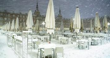 Thủ đô Madrid của Tây Ban Nha 'đóng băng' giữa mùa đông lạnh giá