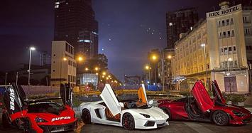 Cận cảnh dàn siêu xe trăm tỷ khoe dáng tại Sài Gòn