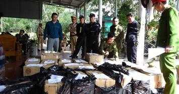 Bắt 2 cha con ở Quảng Bình tàng trữ gần 1 tấn pháo lậu