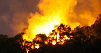 Rừng ở Đà Nẵng cháy ngùn ngụt, hàng trăm người tham gia dập lửa giữa đêm