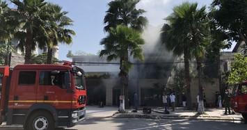 Biệt thự 3 tầng rộng 500m2 của đại gia thép Đà Nẵng cháy dữ dội