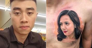 Người chồng 9x chơi lớn xăm hình vợ lên ngực để thể hiện tình cảm