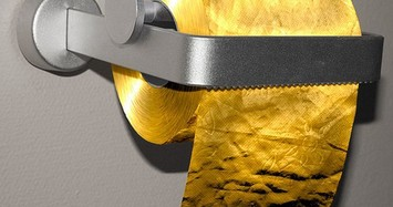 Đến cả giấy vệ sinh, bồn cầu cũng dát vàng của giới siêu giàu