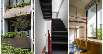 Cận cảnh ngôi nhà ở Hà Nội thiết kế vườn treo như rừng nhiệt đới