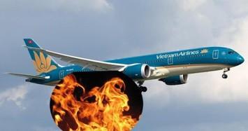 Hành khách bật lửa trên máy bay Vietnam Airline chuẩn bị cất cánh