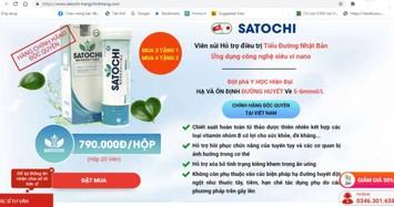 Cảnh báo sản phẩm Satochi, Mộc Linh Chi Body Weight quảng cáo gây hiểu nhầm