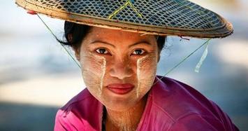 Phong cách trang điểm đặc biệt của phụ nữ Myanmar