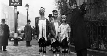Ảnh hiếm về sơn nữ cổ dài Miến Điện thăm London năm 1935