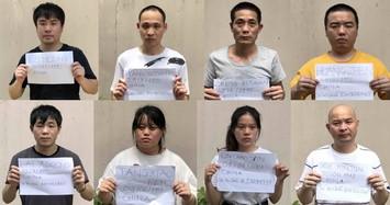 Nhóm người Trung Quốc nhập cảnh bị bắt giữ trước đó.