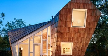 Phá vỡ giới hạn thông thường, ngôi nhà 'tổ ong' vẫn tuyệt đẹp