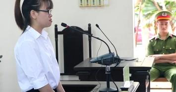 Bị cáo Trinh tại phiên tòa.