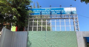 Cổng dự án Ocean Light Center Phan Thiết tại phường Hưng Long. Ảnh: Báo Tuổi Trẻ.