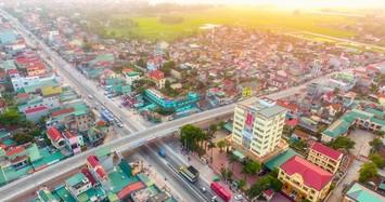 Một góc trung tâm huyện Quỳnh Lưu. Ảnh: vnexpress
