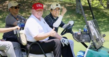 Những lần Thủ tướng Abe 'ngoại giao sân golf' với Tổng thống Trump
