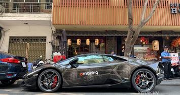Lamborghini Huracan với khoác hoa văn độc nhất Sài Gòn
