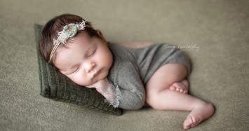 Ngắm bộ ảnh dễ thương tuyệt đỉnh của bé sơ sinh đang ngủ