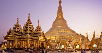 Ngôi chùa có bảo tháp dát vàng, kim cương tuyệt đẹp ở Myanmar
