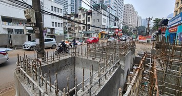 Dân khổ sở khi dự án mở rộng phố Vũ Trọng Phụng quá chậm tiến độ