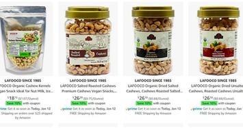 Hạt điều Việt được bán trên Amazon