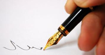 Chữ ký và tính cách mỗi người dưới góc độ khoa học