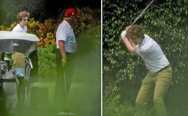 Con trai út nhà ông Trump lại gây sốt khi tái xuất sau nhiều tháng ở ẩn
