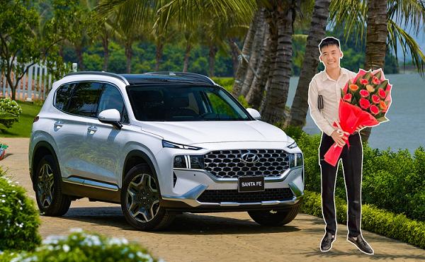 Con Bà Tân Vlog bán Hyundai SantaFe lướt 3.000km lên đời 2021