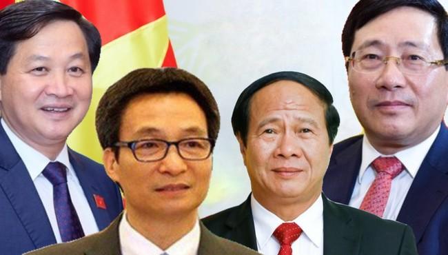 Chân dung 4 Phó Thủ tướng Phạm Bình Minh, Lê Minh Khái, Vũ Đức Đam, Lê Văn Thành