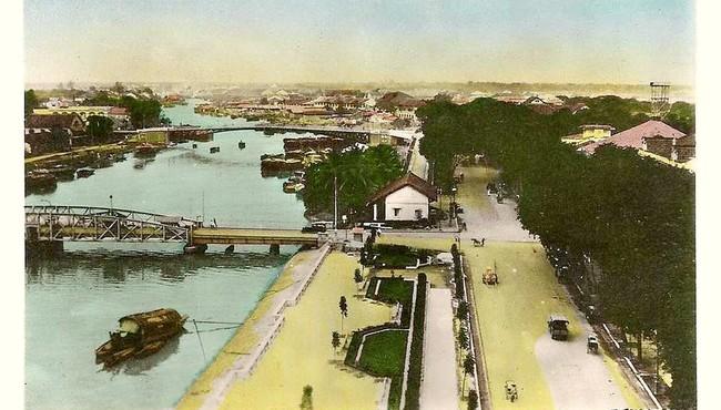 Hình ảnh Cầu Mống trứ danh Sài Gòn trên loạt bưu thiếp trăm tuổi