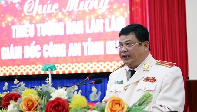 Giám đốc Công an tỉnh Gia Lai Rah Lan Lâm được phong hàm thiếu tướng