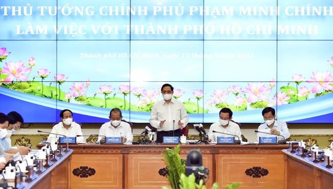 Thủ tướng Phạm Minh Chính làm việc với TP HCM, giải quyết những vấn đề trọng tâm, cấp bách của TP
