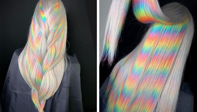 Ấn tượng cách dưỡng tóc nhuộm cầu vồng của nhà tạo mẫu nổi tiếng Nga