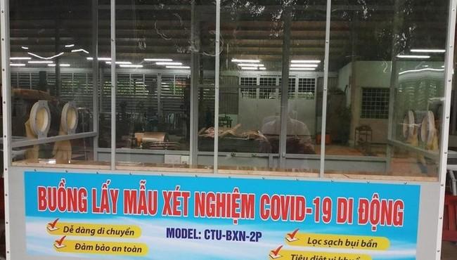 """Bên trong buồng lấy mẫu xét nghiệm COVID-19 di động """"made in Việt Nam"""""""