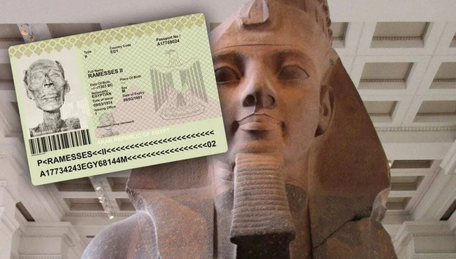 Phục dựng chân dung pharaoh đầu tiên được cấp... hộ chiếu