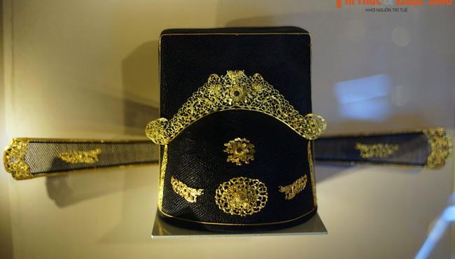Ngắm chiếc mũ gắn vàng, nạm ngọc của đại thần nhà Nguyễn