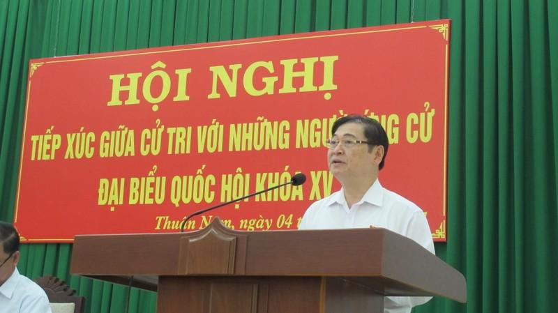 Hinh anh ngay dau tiep xuc cu tri cua ung vien DBQH - Chu tich VUSTA Phan Xuan Dung-Hinh-2