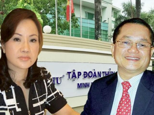 Ba Chu Thi Binh ngoi ghe Chu tich Thuy san Minh Phu thay chong