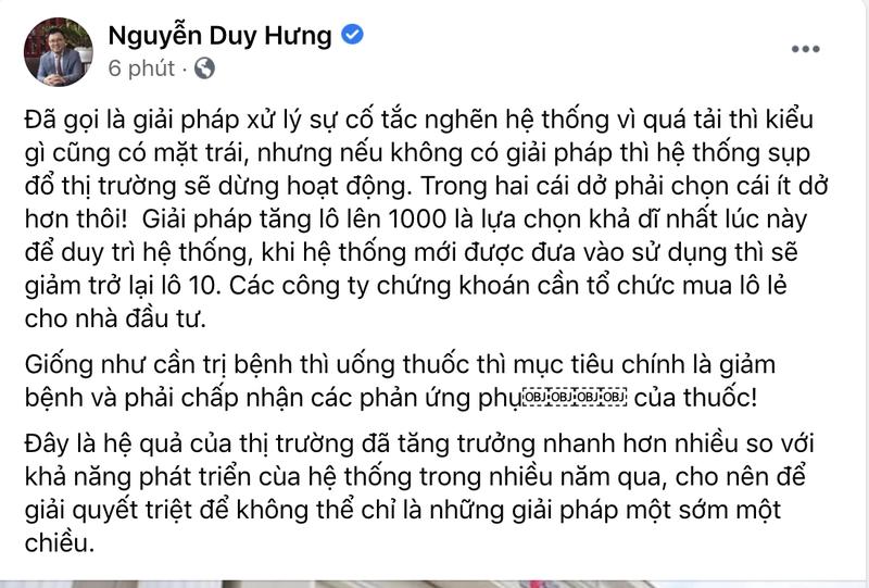 Ong Nguyen Duy Hung noi gi ve HoSE nang lo le len 1.000 co phieu?-Hinh-2