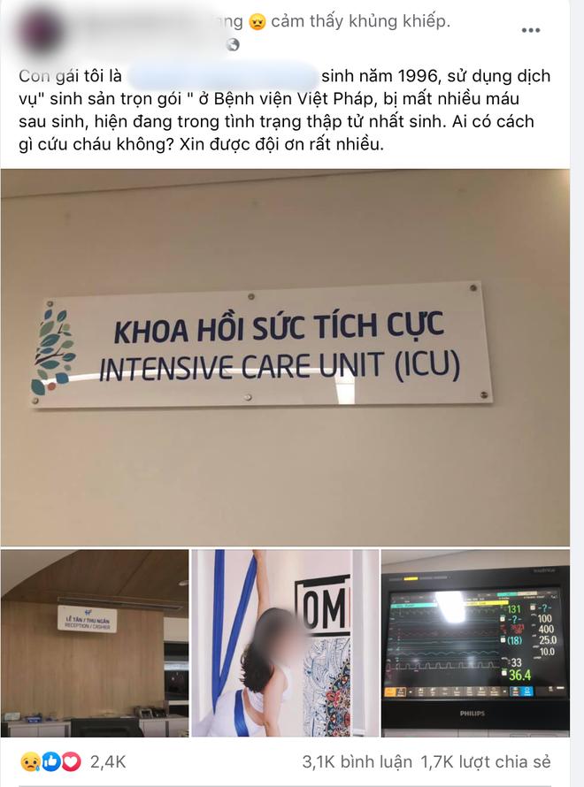 Nu san phu 24 tuoi tu vong sau sinh con tai Benh vien Viet - Phap