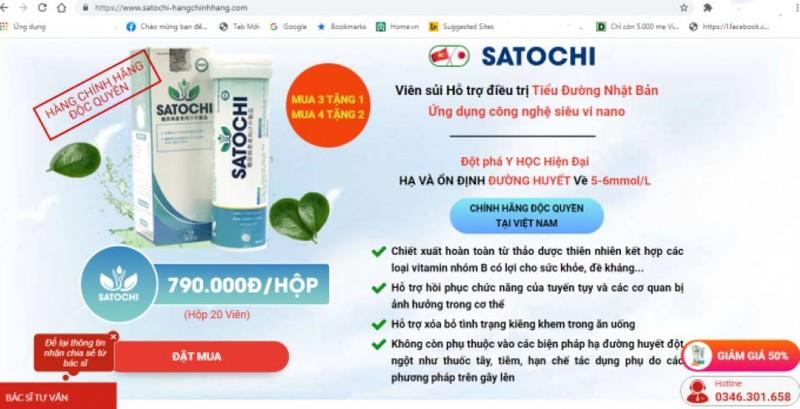 Canh bao san pham Satochi, Moc Linh Chi Body Weight quang cao gay hieu nham