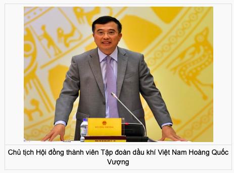 Ong Hoang Quoc Vuong dam nhiem vi tri Chu tich PVN