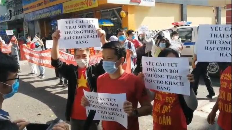 Khach hang mua dat cua Tong cong ty Thai Son cang bang ron doi quyen loi