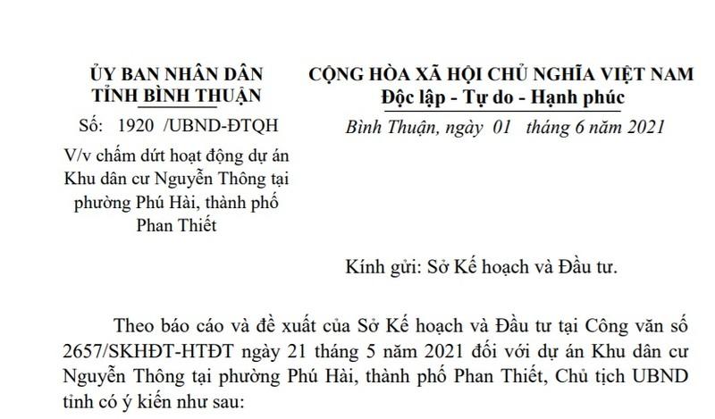 Binh Thuan thu hoi khu dan cu hon 37 ha o TP Phan Thiet