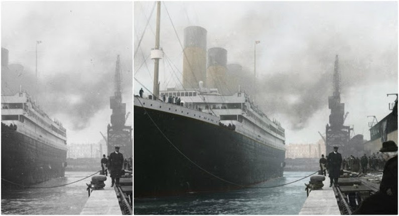 Loat anh hiem tau Titanic huyen thoai truoc khi gap nan